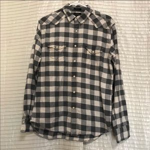 Lucky Brand Black Label Checkered Pearl Buttons